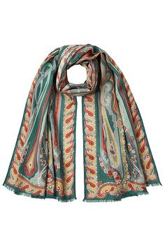 ETRO - Printed Scarf with Wool and Silk | STYLEBOP.com