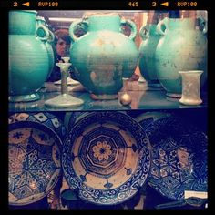 Pottery in Marrakech, Morocco