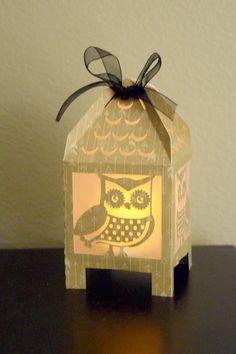 Owl 3D Light Box Silhouette Tutorial