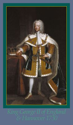KING GEORGE II OF ENGLAND & HANNOVER ~A Painting by Enoch Seeman, c.1730. George I died on 11 June 1727 during one of his visits to Hannover, & George II succeeded him as king & elector at the age of 43. The new king decided not to travel to Germany for his father's funeral, which far from bringing criticism led to praise from the English who considered it proof of his fondness for England. He suppressed his father's will, dividing Hannover & Britain.