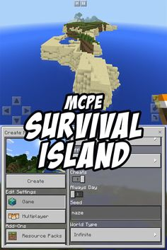 A great survival island seed for Minecraft Pocket Edition. Good starter resources and a nice-sized island, too!