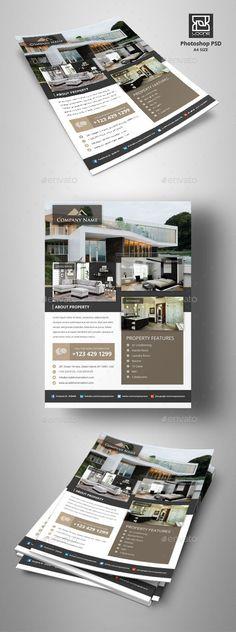 Real Estate Flyer - Corporate Flyers,#Real Estate #Flyer Download here: https://graphicriver.net/item/real-estate-flyer/20430157?ref=suz_562geid