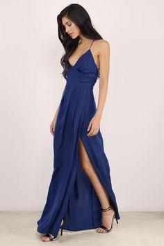Talk Of The Town Wrap Maxi Dress at Tobi.com #shoptobi