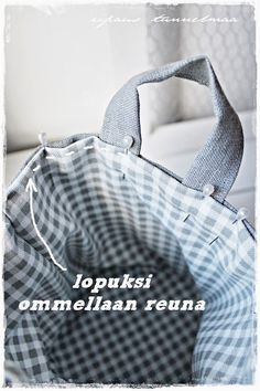 ripaus tunnelmaa: diy säilytyspussukka Gym Bag, Projects To Try, Sewing, Diy, Bags, Build Your Own, Purses, Needlework, Bricolage