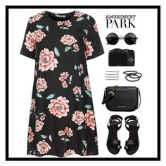 """""""Amusement."""" by sabreerae ❤ liked on Polyvore featuring Glamorous, H&M, CO, MICHAEL Michael Kors, Goody, BOBBY, amusementpark and 60secondstyle"""