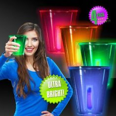 Neon Glow 12 oz Cups – 4 Pack $4.95
