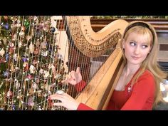 SILENT NIGHT - Harp Twins - Camille and Kennerly - YouTube