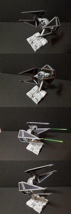 Star Wars 49212: Bandai 1 72 Star Wars Tie Fighter Interceptor Professionally Built Star Wars -> BUY IT NOW ONLY: $175 on eBay!