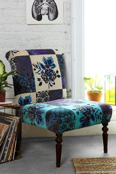 Magical Thinking Patchwork Floral Chair