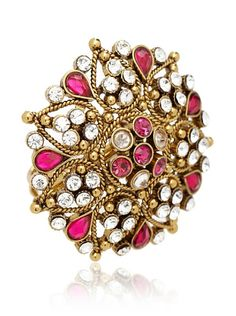 Rosena Sammi Gold Flower Power Ring at MYHABIT