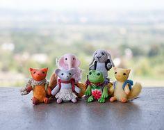 art miniature handmade toys dolls soft toys by UnderUmbrelland