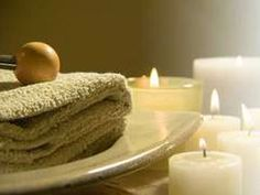 Fresh & relaxing spa w candles