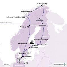 Rundreise durch Skandinavien Reiseverlauf
