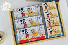 Candy bars + favors from a Vintage Mickey Mouse Themed Birthday Party via Kara's Party Ideas   KarasPartyIdeas.com (16)