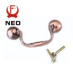 10PCS NED European Retro Red Bronze Kitchen Cabinet Knobs 64mm Cupboard Zinc Alloy Furniture Handles Wardrobe Mini Drawer Pulls #shoes, #jewelry, #women, #men, #hats, #watches, #belts