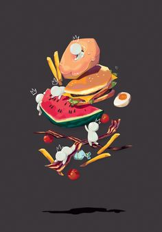 More Food! poster by Ania Ania, via Behance