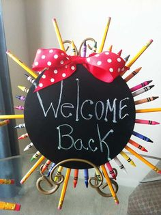 """Back To School Party """"Welcome Back"""" Sign"""