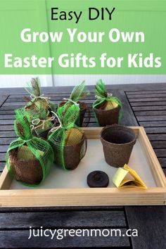 Looking for #easy #DIY #green #Easter gifts for kids? This is simple & perfect for spring!