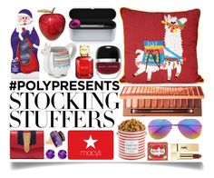 """#PolyPresents: Stocking Stuffers"" by ittie-kittie ❤ liked on Polyvore featuring Gucci, Marc Jacobs, Urban Decay, Marco Bicego, The Hampton Popcorn Company, Matthew Williamson, Michael Kors, PUR, BillyTheTree and Kusmi Tea"