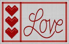 Free Printable Cross Stitch Patterns Fall   ... Cross Stitch Patterns - Free St. Valentine's Day Counted Cross Stitch