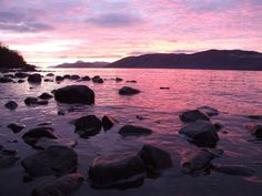 The best sunsets on Loch Ness are always in the winter.