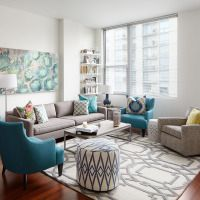 Meredith's living room gets a colorful, rental-friendly makeover.