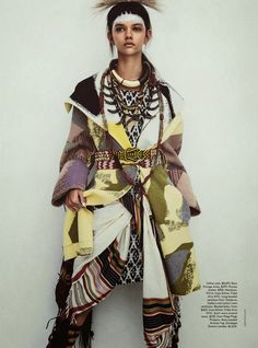 """Tomorrow's Tribe"" Marina Nery by Sebastian Kim for Vogue Australia April 2014"