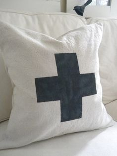 cross pillow. Found one just like this at hobby lobby for $2