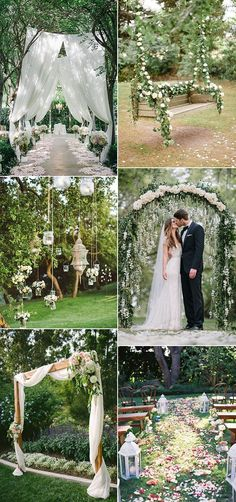 wedding ceremony decoration ideas for garden themed wedding ideas Related posts:Cozy Backyard Wedding Decor Ideas For Summer lawn games for outdoor wedding fun as seen on Offbeat Bride chic bohemian wedding outdoors diner banquet garland around tree g . Wedding Ceremony Decorations, Wedding Bells, Wedding Flowers, Wedding Reception, Wedding Arches, Backdrop Wedding, Decor Wedding, Reception Entrance, Floral Wedding