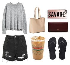 """""""Movie Date with BFF"""" by nunki-susilo on Polyvore featuring Havaianas, Topshop, Old Navy, Casetify and Mulberry"""