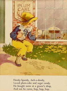 'Handy Spandy'  nursery rhyme print, via Etsy.