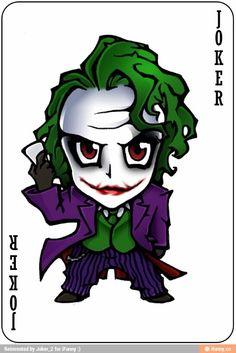 The joker on a joker playing card