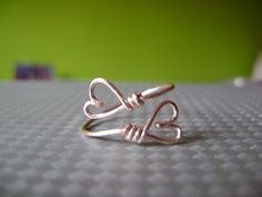 Heart or Love Wire Ring. $5.50, via Etsy.