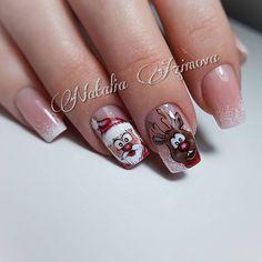 Deer nails holiday nails Christmas nails winter - - New Ideas Holiday Nail Art, Christmas Nail Designs, Christmas Nail Art, Christmas Holiday, Winter Christmas, Christmas Design, Deer Nails, Nagel Stamping, Funny Xmas Gifts