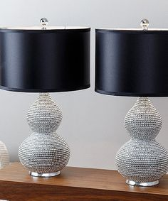 Look what I found on #zulily! Silver Plated Sea Urchin Table Lamp - Set of Two #zulilyfinds
