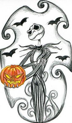 Nightmare Before Christmas Jack Skellington Jack Skellington Pumpkin Carving, Jack Skellington Drawing, Halloween Drawings, Halloween Art, Halloween Illustration, Tattoo Design Drawings, Cute Drawings, Tattoo Designs, Tattoo Ideas