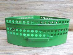 Vintage Green Metal Triangular Drawer Industrial Storage by RedoneAndVintage on Etsy