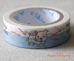Japanese Washi Masking Tape - Peko Peko - Shinzi Katoh - 11 Yards