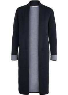 Sibin Linnebjerg Cardigan mørkegrå SL1018 Marika Cardigan - antracit/sweat grey – Acorns