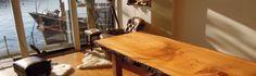 Cedar of Lebanon bespoke dinning table - www.paleamber.net
