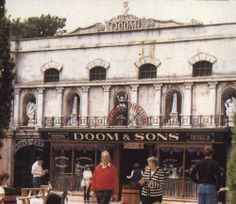 Doom and Sons haunted house at Alton Towers theme park - terrifying back in the 1980s.