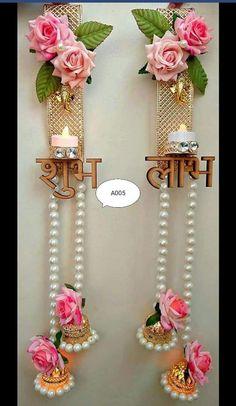 Mandir Decoration, Diwali Decoration Items, Thali Decoration Ideas, Ganpati Decoration At Home, Diwali Decorations At Home, Festival Decorations, Kalash Decoration, Diwali Diy, Diwali Craft