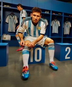 Argentina 2014 World Cup Jersey. Official Photos of Argentina's Jersey for the 2014 World Cup.