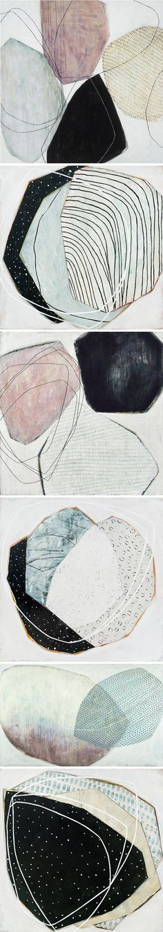 mixed media paintings by karine léger
