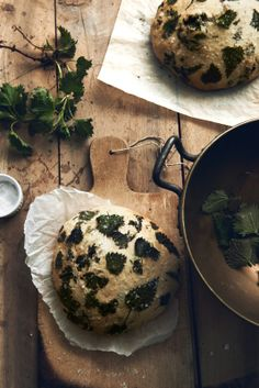fork and flower: nettle bread with wild herb curd
