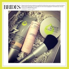 Brides Mag recommends a gorgeous Juice Beauty lineup of CC Cream, Irresistible Glow Facial Highlighter and Refining Finishing Powder to look glowing on your big day!