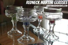 Redneck Martini Glasses Tutorial