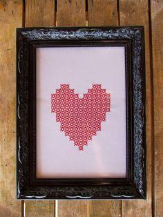 Quadro Preto Coração | MOBI | Elo7