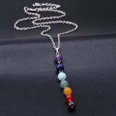 7 Chakra Pendant Necklace https://zenyogahub.com/collections/jewellery/products/7-chakra-pendant-necklace