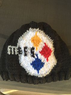 b5e9b784ee950 Pittsburgh Steelers hand-knit beanie hat adult large by astraknots on Etsy. genevieve  Krzeminski